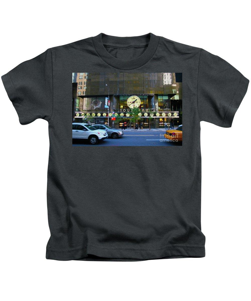 Walter Paul Bebirian Kids T-Shirt featuring the digital art 4-23-2017b by Walter Paul Bebirian