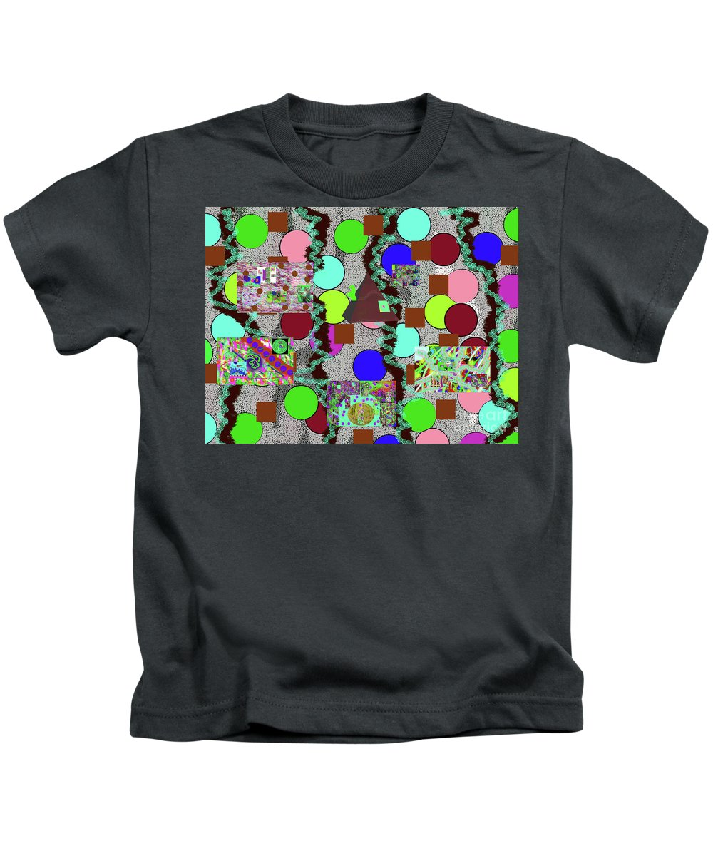 Walter Paul Bebirian Kids T-Shirt featuring the digital art 4-8-2015abcdefghijklmnopqrtuvwx by Walter Paul Bebirian