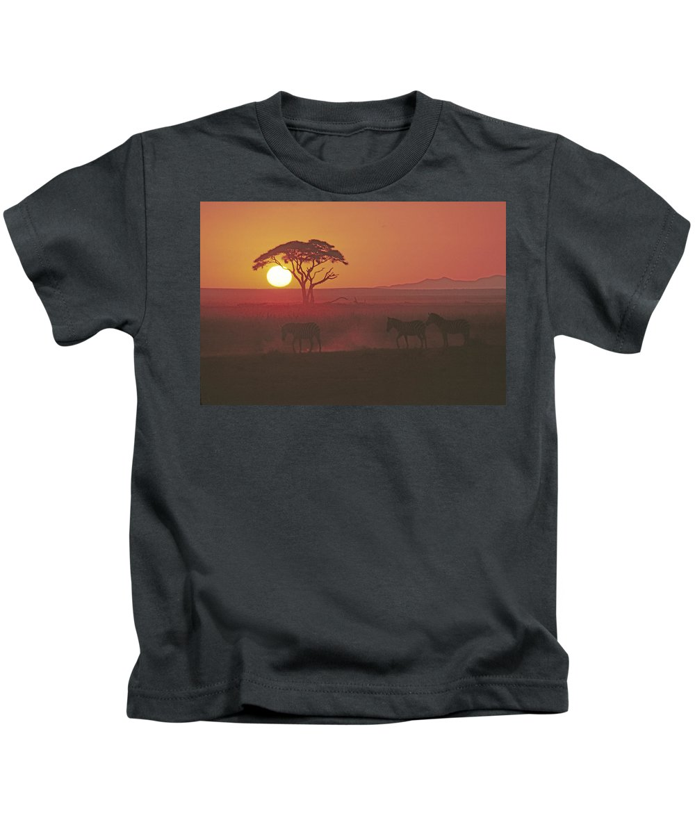 Africa Kids T-Shirt featuring the photograph African Sunrise by Michele Burgess