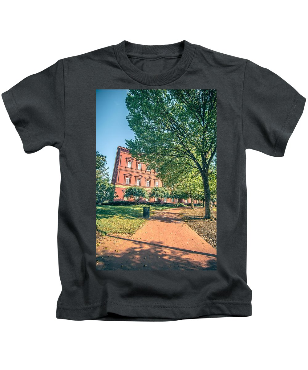 Architecture Kids T-Shirt featuring the photograph Architecture And Buildings On Streets Of Washington Dc by Alex Grichenko