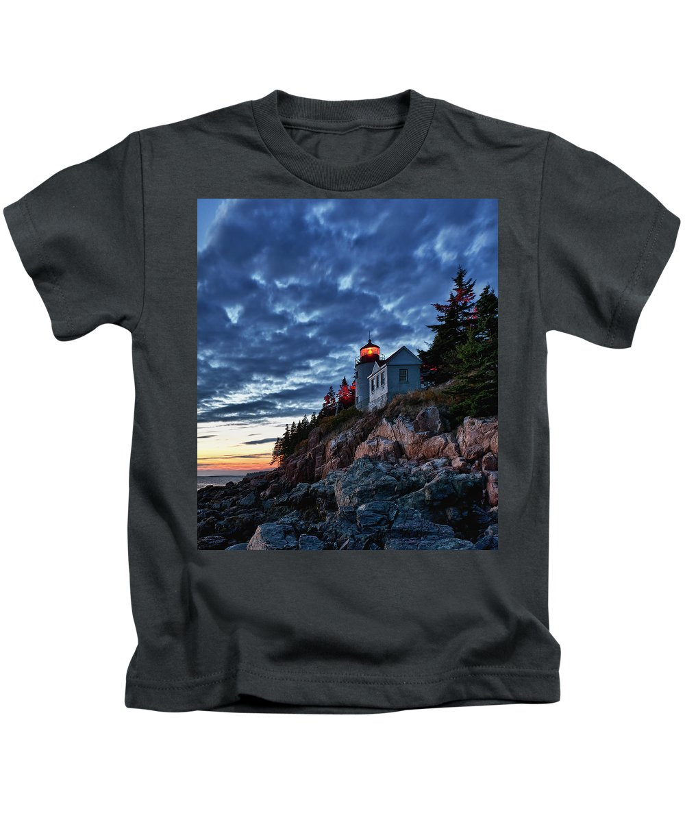 Acadia Kids T-Shirt featuring the photograph Bass Harbor Lighthouse by John Greim