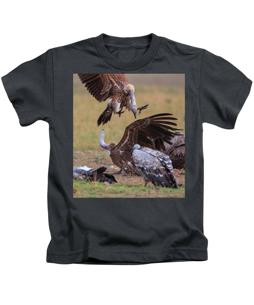 Wildlife Kids T-Shirt featuring the photograph Coming Down by Leigh Lofgren