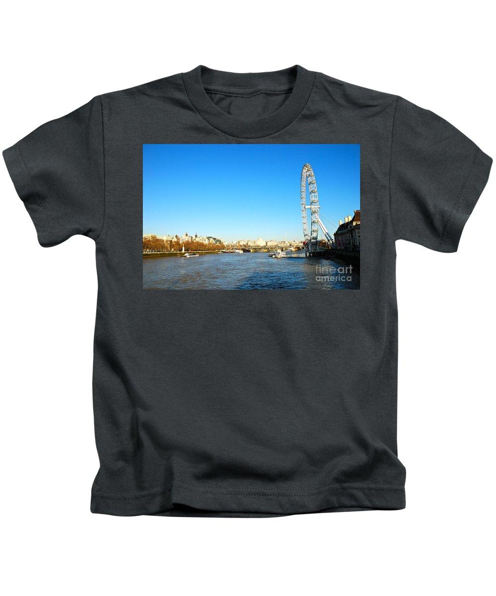 London Eye Kids T-Shirt featuring the photograph London Eye by Kayme Clark