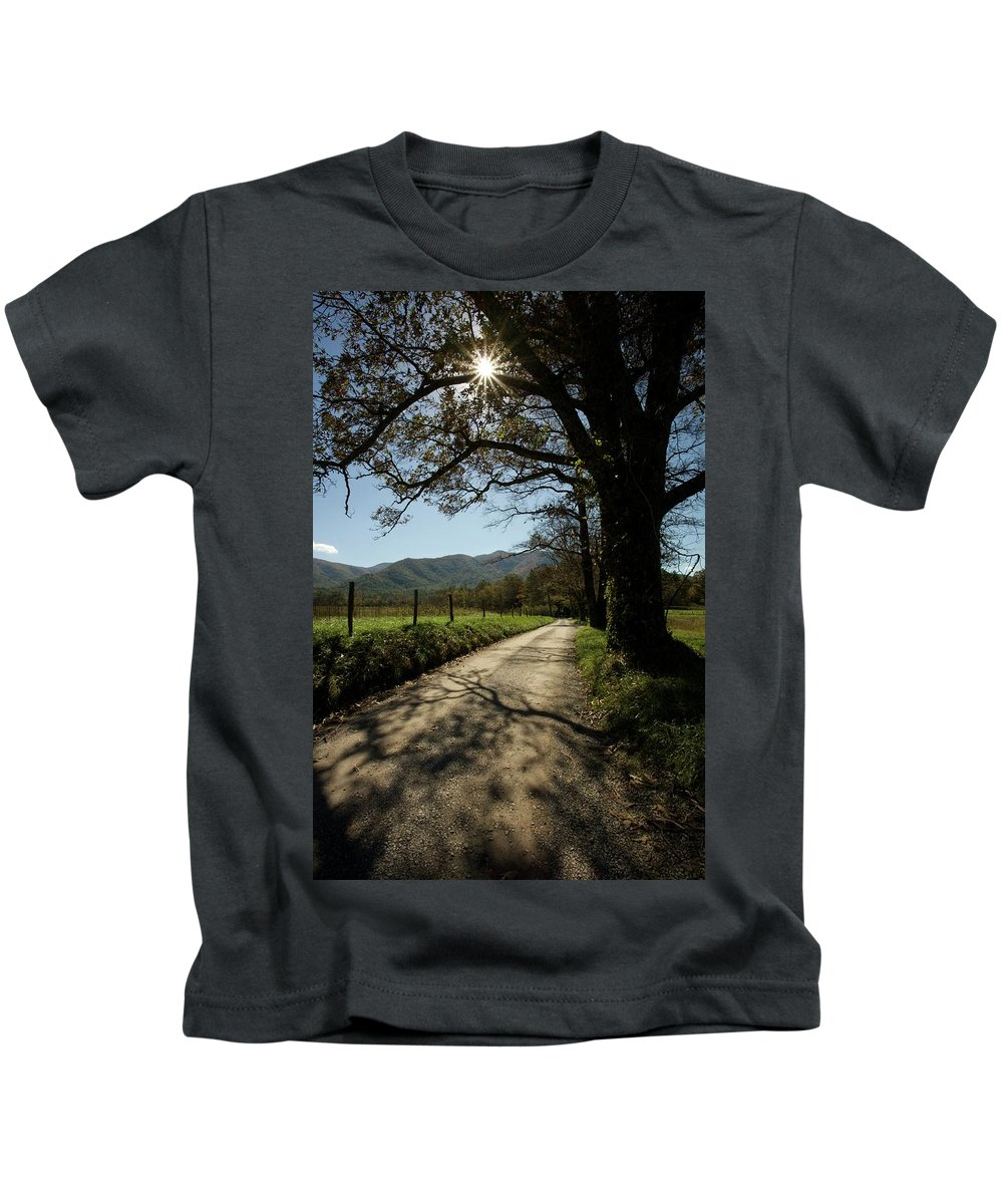Landscape Kids T-Shirt featuring the photograph Sparks Lane by John Prickett