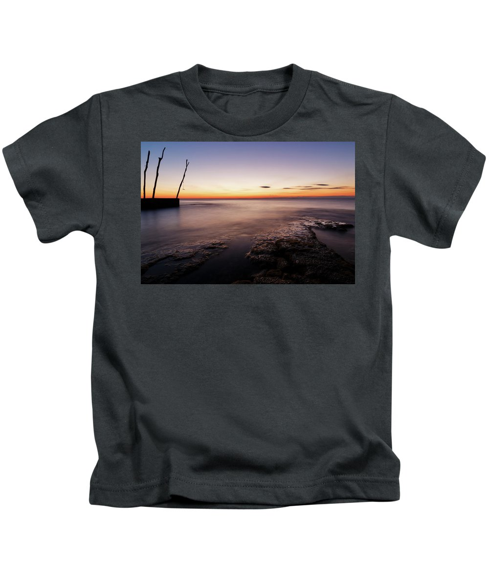 Ba�anija Kids T-Shirt featuring the photograph Sunset At Basanija by Ian Middleton
