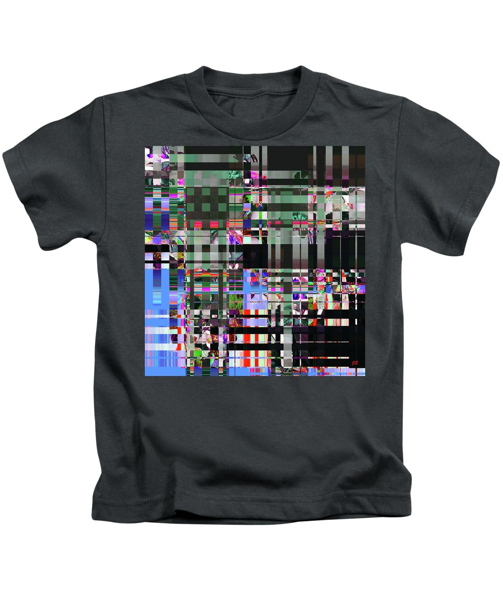 Abstract Kids T-Shirt featuring the digital art 4 U 343 by John Saunders