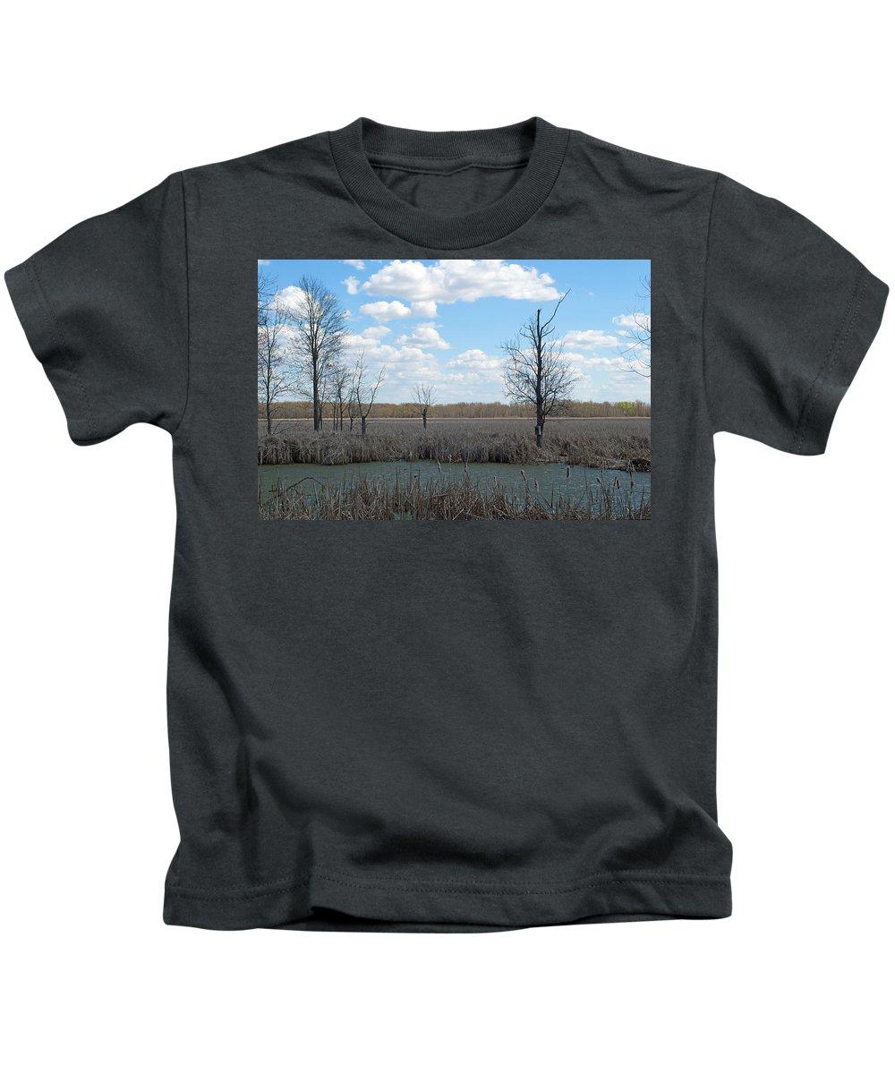 Wetland Kids T-Shirt featuring the photograph Wetlands by Linda Kerkau