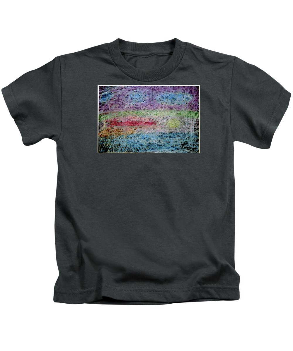Kids T-Shirt featuring the painting 46 by Terry Wiklund