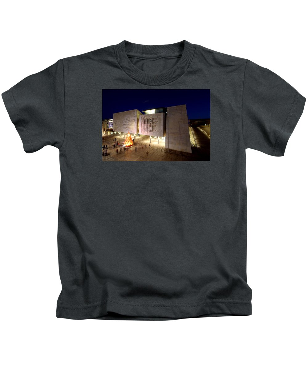 Kids T-Shirt featuring the photograph Valletta, Malta by Paul James Bannerman