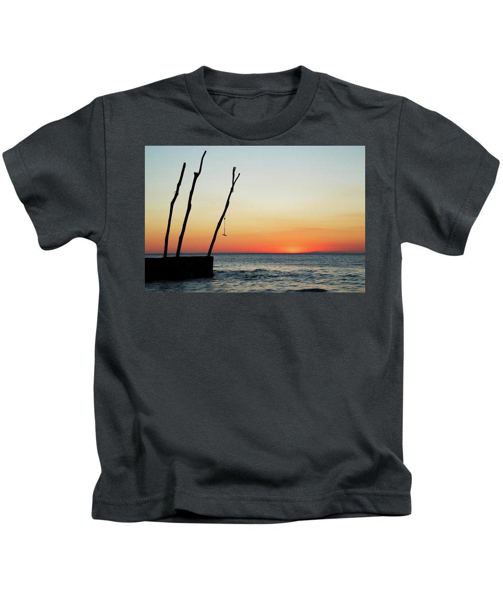 Ba�anija Kids T-Shirt featuring the photograph Sunset At Basanija by Ian Middleton