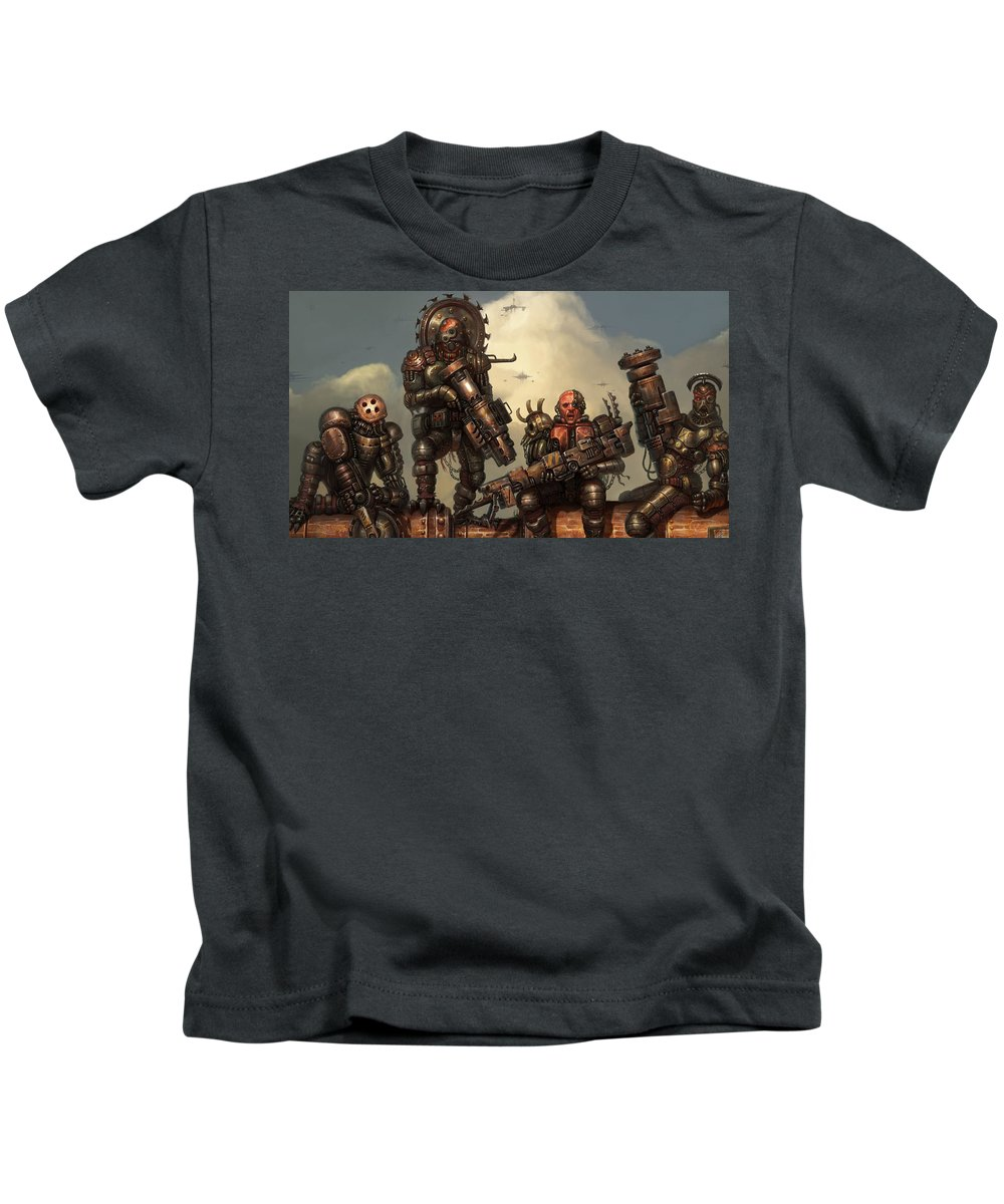 Warrior Kids T-Shirt featuring the digital art Warrior by Dorothy Binder
