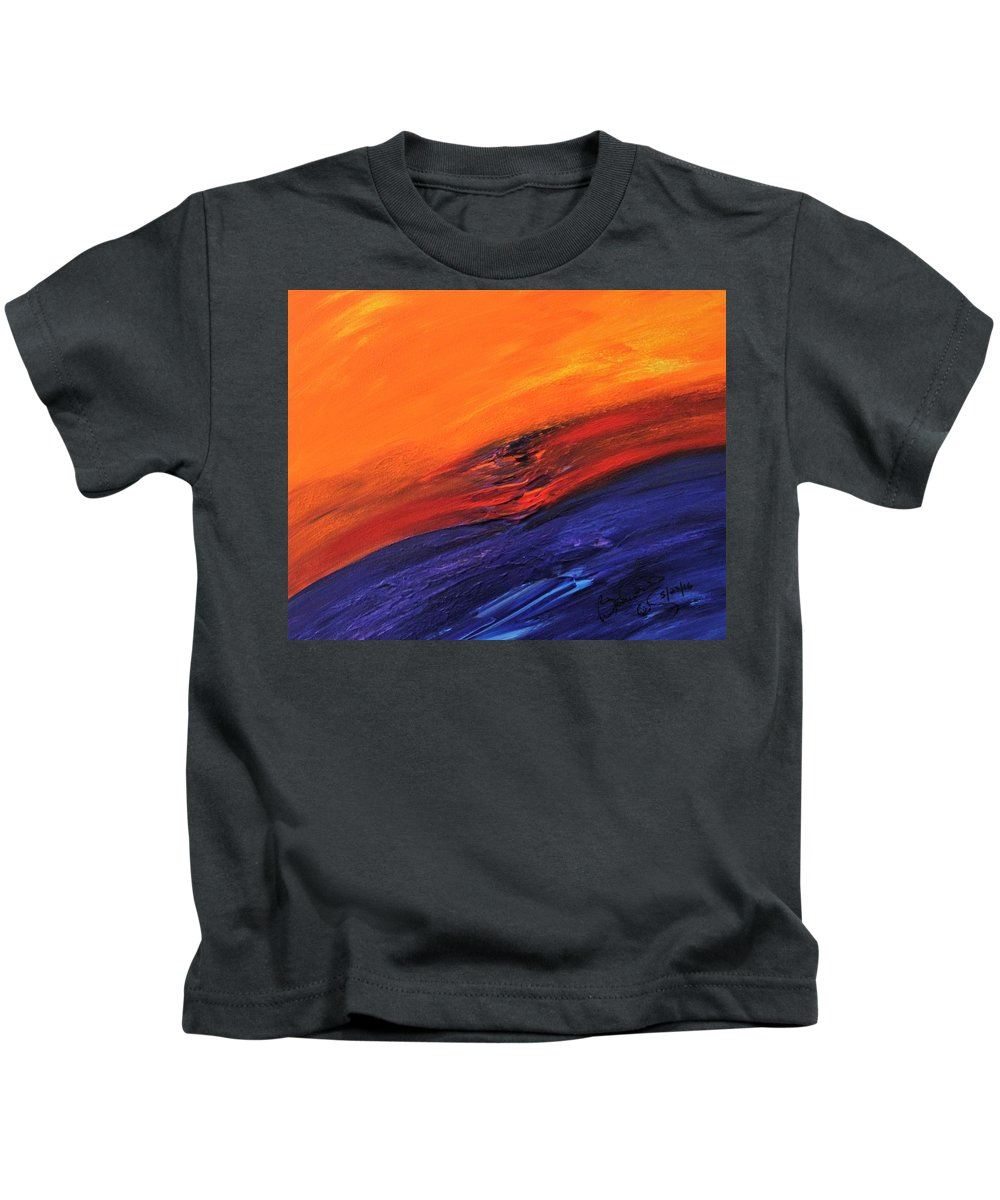 Kids T-Shirt featuring the painting Masterpiece Collection by Brenda Basham Dothage