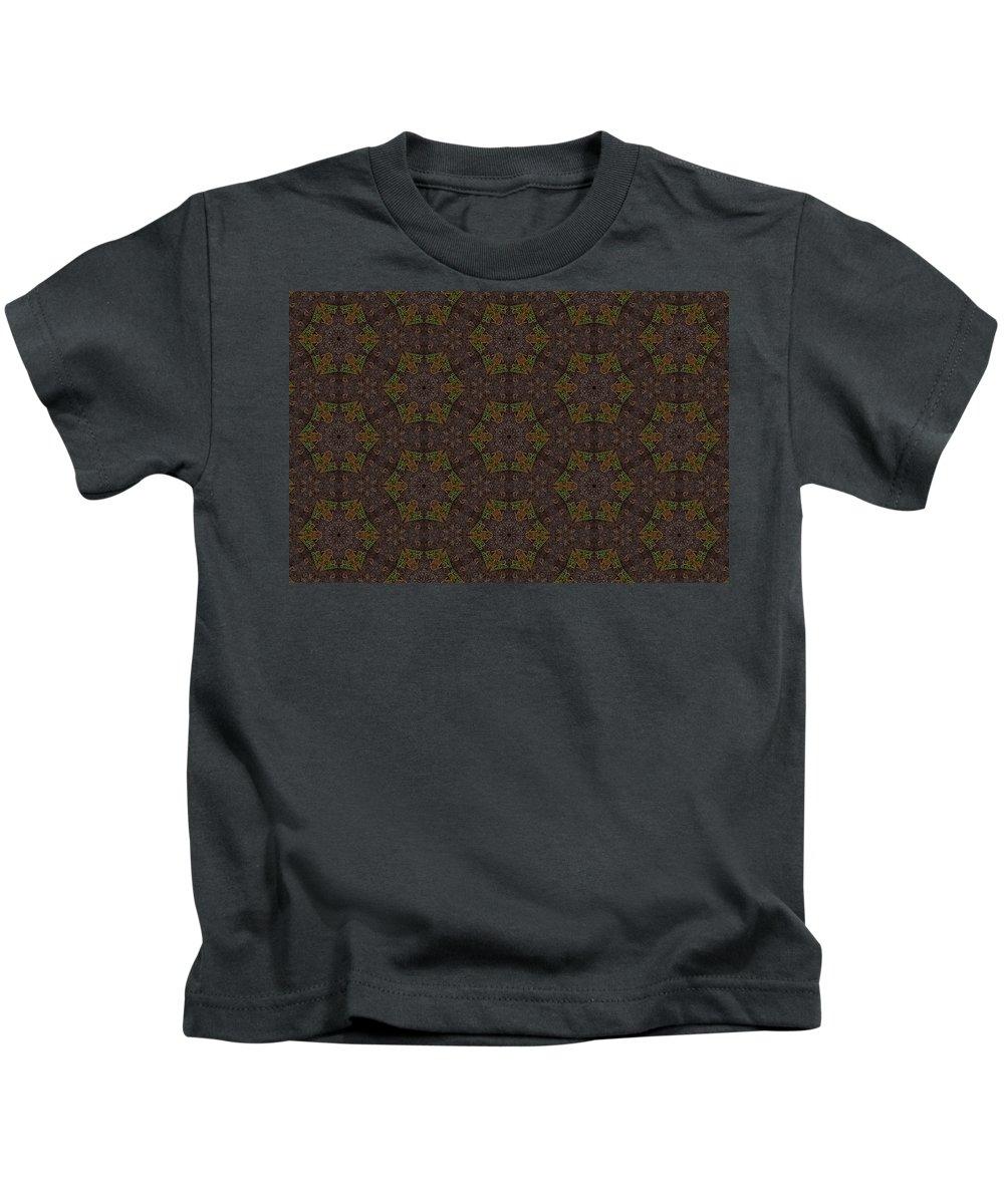 Marjan Mencin Kids T-Shirt featuring the digital art Arabesque 071 by Marjan Mencin