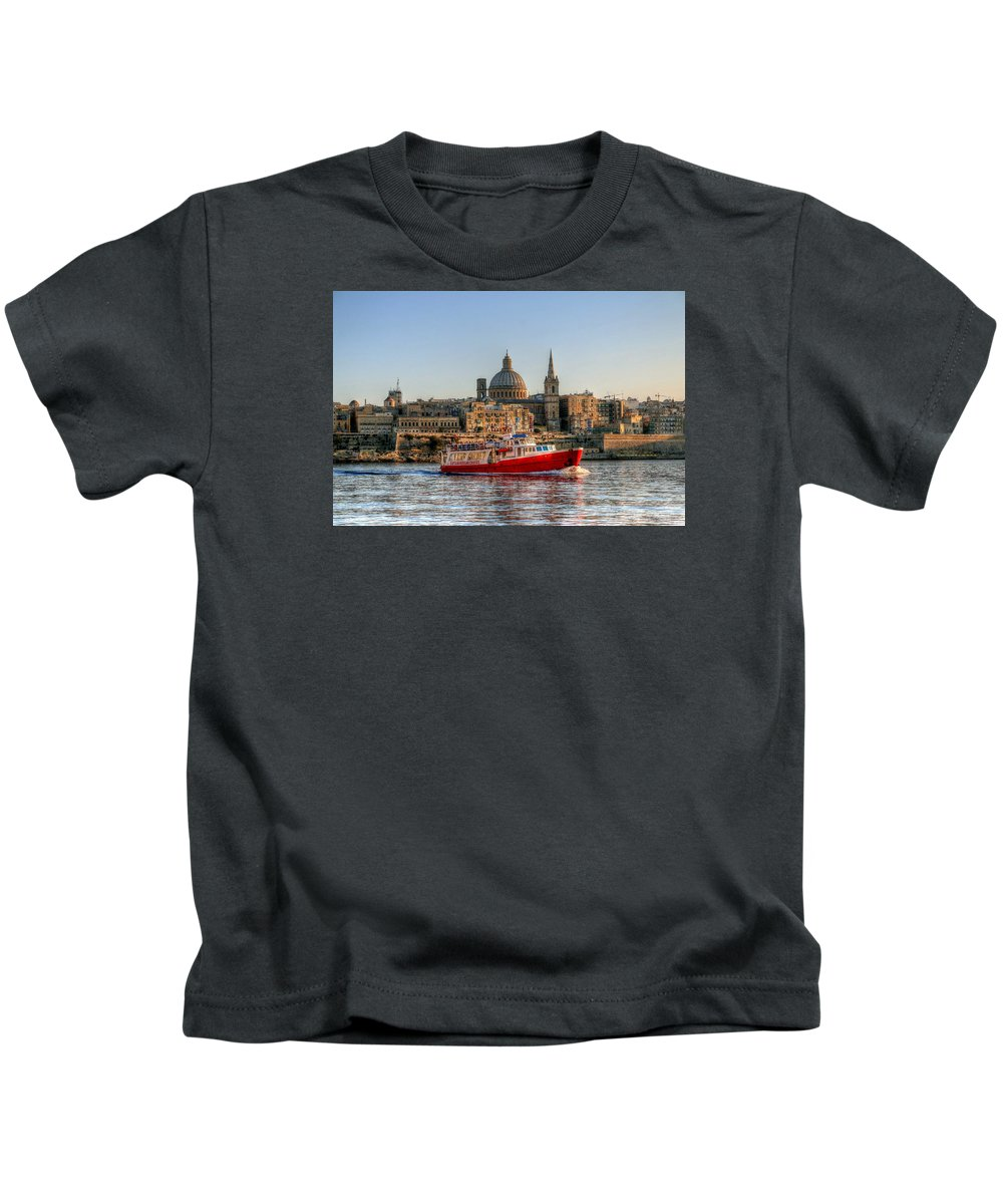 Valletta Kids T-Shirt featuring the photograph Valletta, Malta by Paul James Bannerman