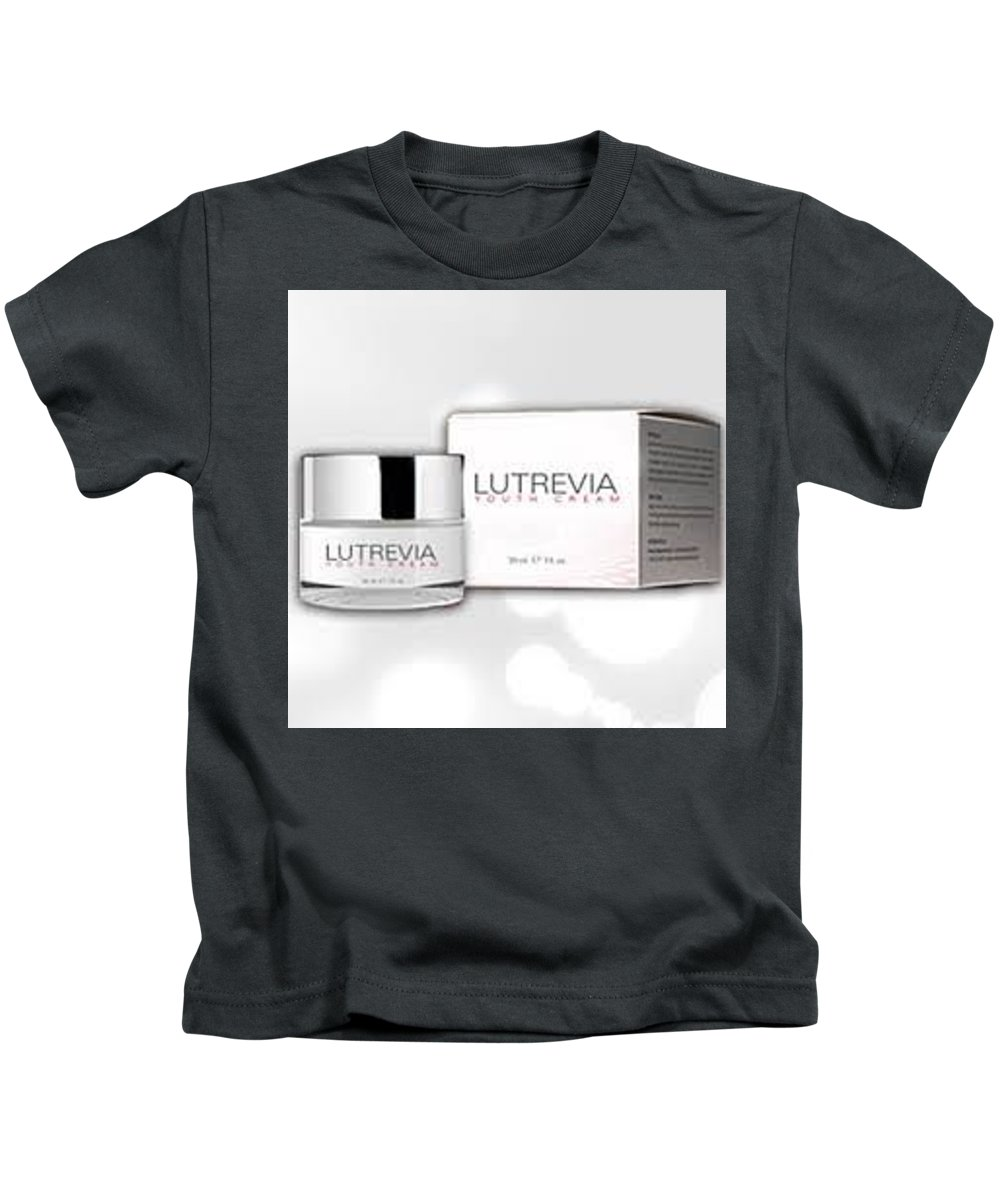 Lutrevia Youth Cream Kids T-Shirt featuring the digital art Lutrevia Youth Cream by Lutrevia Youth Cream