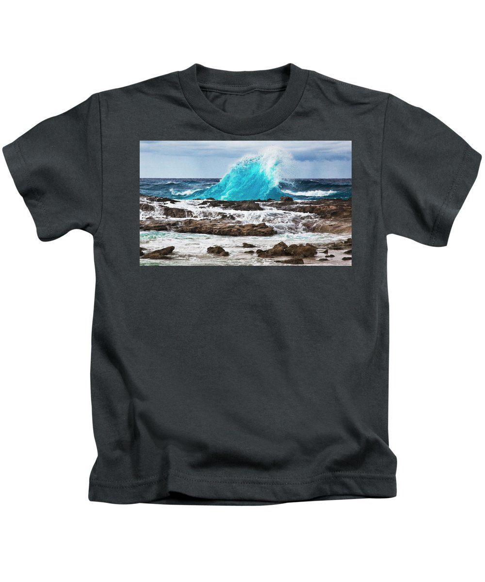 Wave Kids T-Shirt featuring the photograph Wave by Bruce Beck