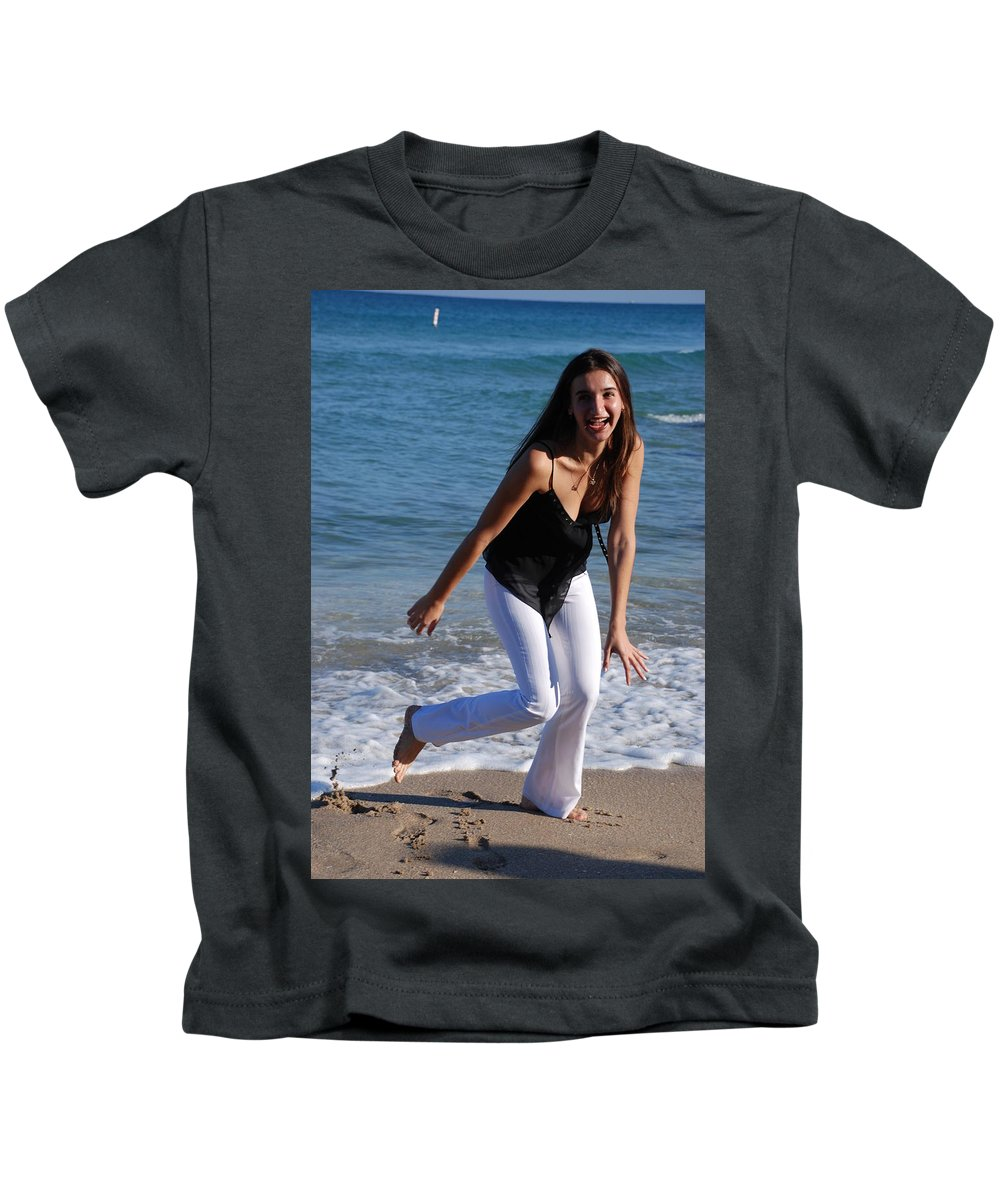 Sea Scape Kids T-Shirt featuring the photograph Gisele by Rob Hans