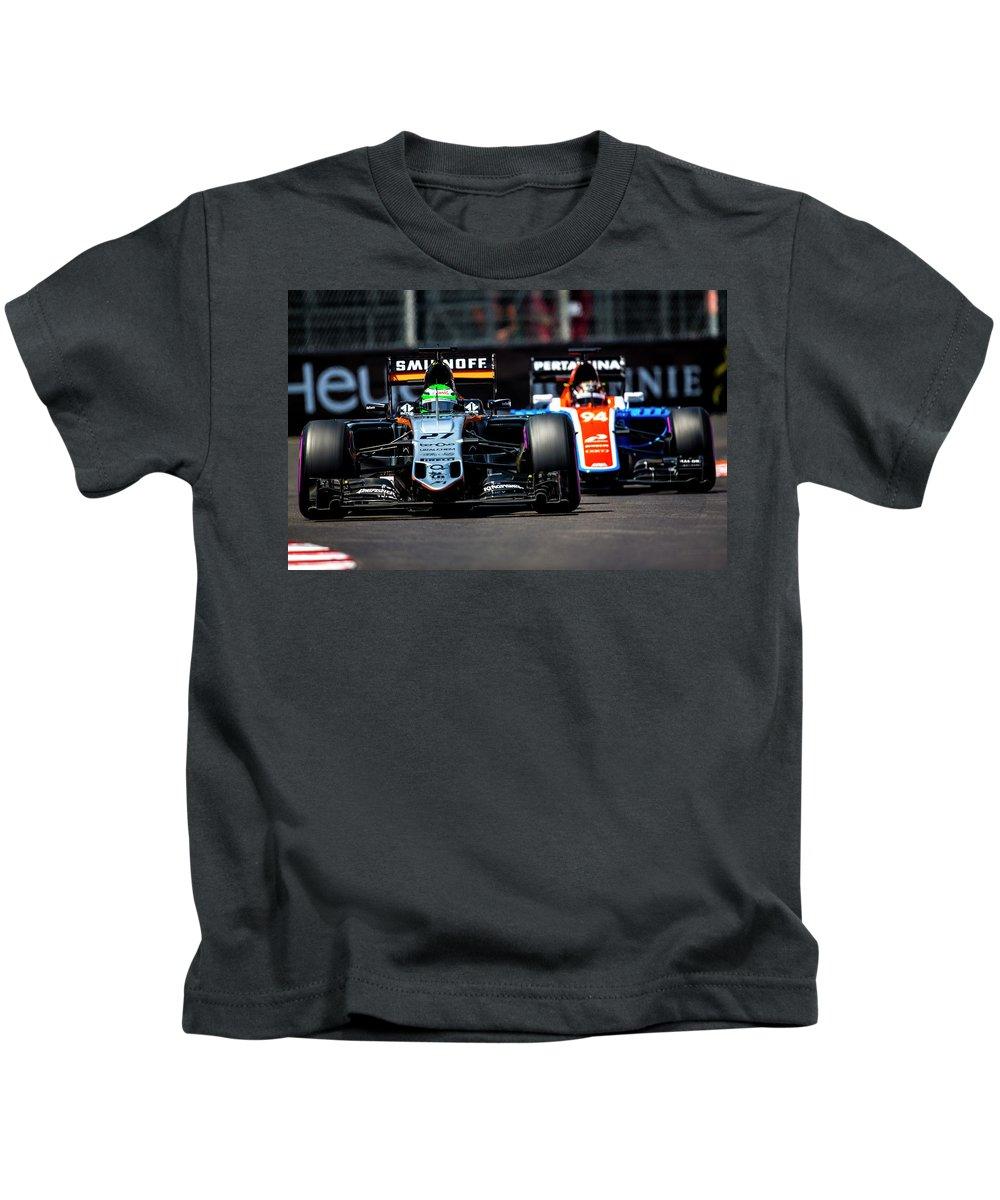Monaco Kids T-Shirt featuring the photograph Formula 1 Monaco Grand Prix 2016 by Srdjan Petrovic