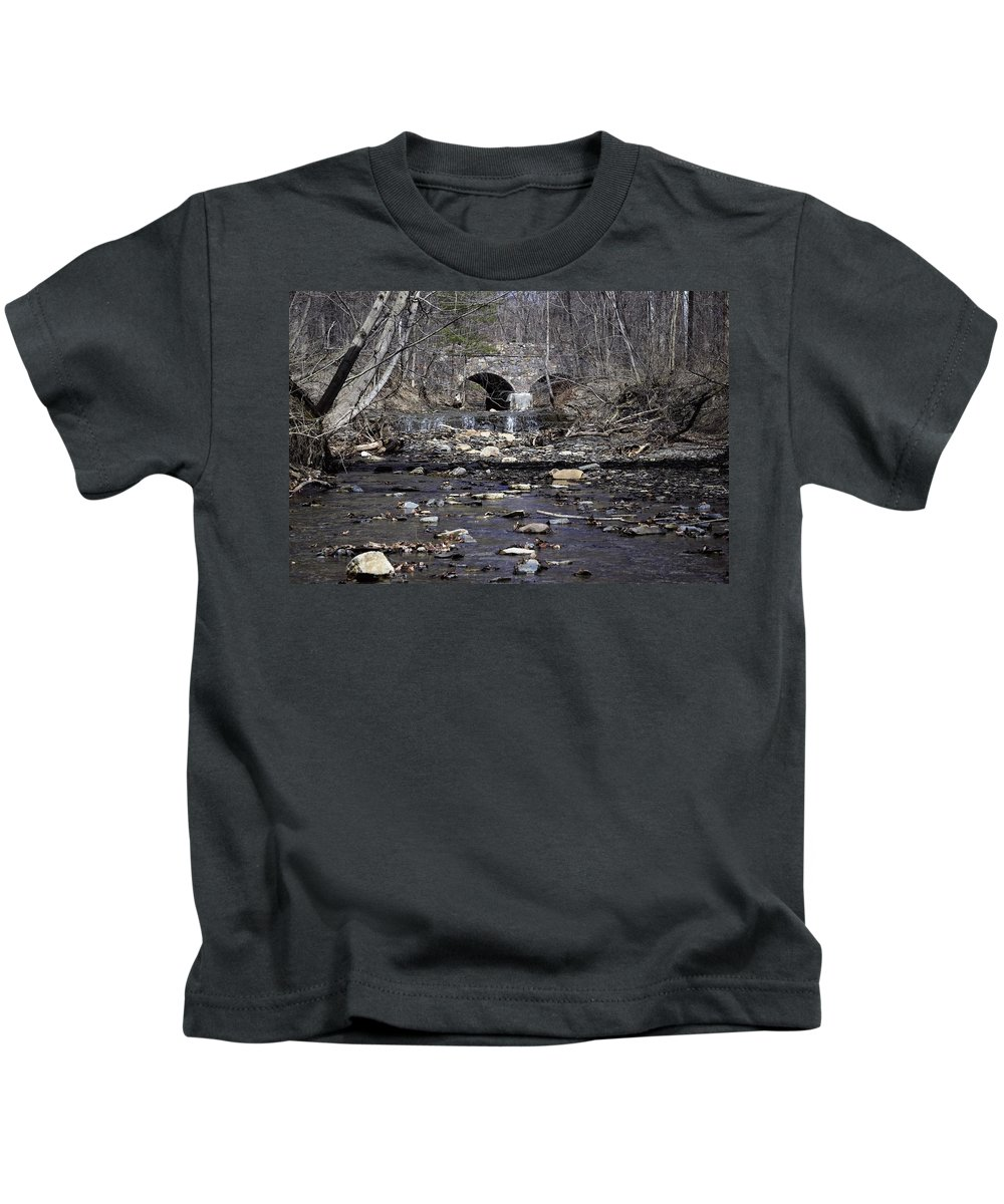 Water Kids T-Shirt featuring the photograph A Bridge Among Us by Christina McNee-Geiger