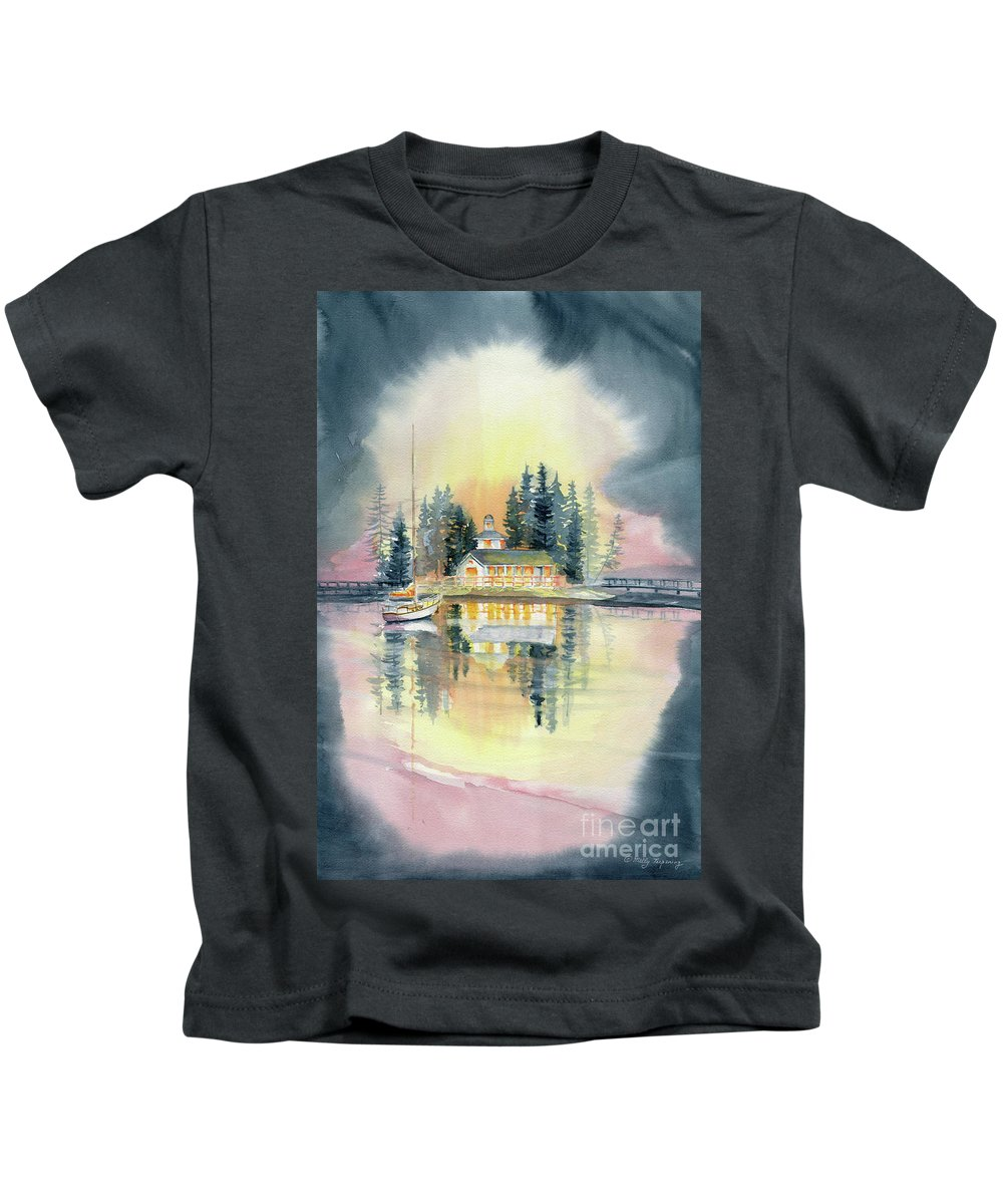 A Certain Light Kids T-Shirt featuring the painting A Certain Light by Melly Terpening