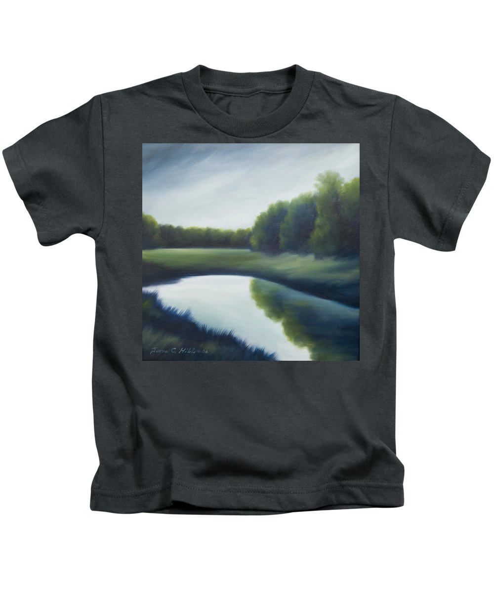 Clouds Kids T-Shirt featuring the painting A Day In The Life 2 by James Christopher Hill