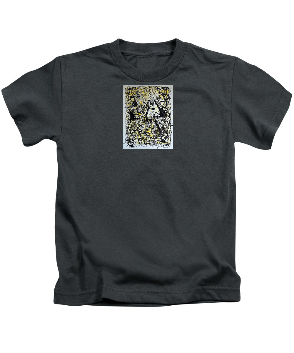 Abstract Kids T-Shirt featuring the painting A Friendly Face by J R Seymour