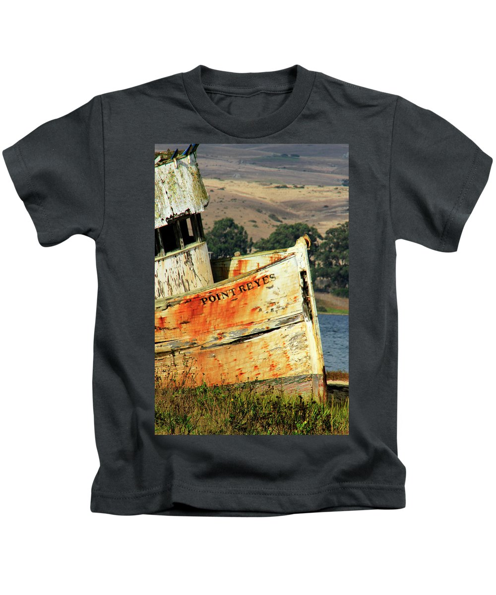 Derelict Kids T-Shirt featuring the photograph A-ground At Point Reyes by Pauline Darrow