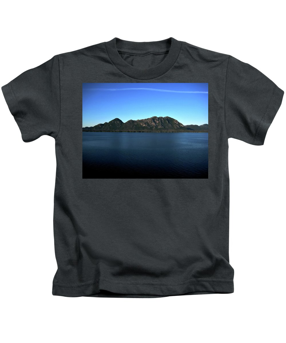 Mountain Kids T-Shirt featuring the photograph A Mighty Mountain by Lori Tambakis