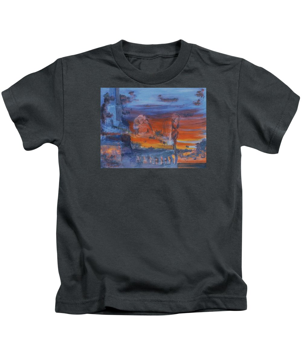 Abstract Kids T-Shirt featuring the painting A Mystery Of Gods by Steve Karol