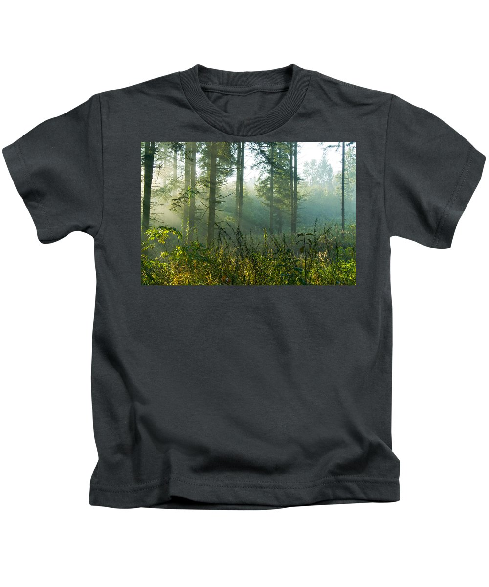 Nature Kids T-Shirt featuring the photograph A New Day Has Come by Daniel Csoka
