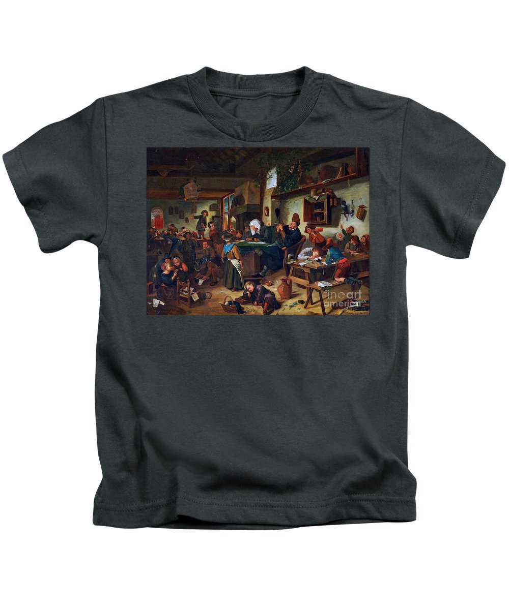 James Clark - A School Class 1861 Kids T-Shirt featuring the painting A School Class by MotionAge Designs
