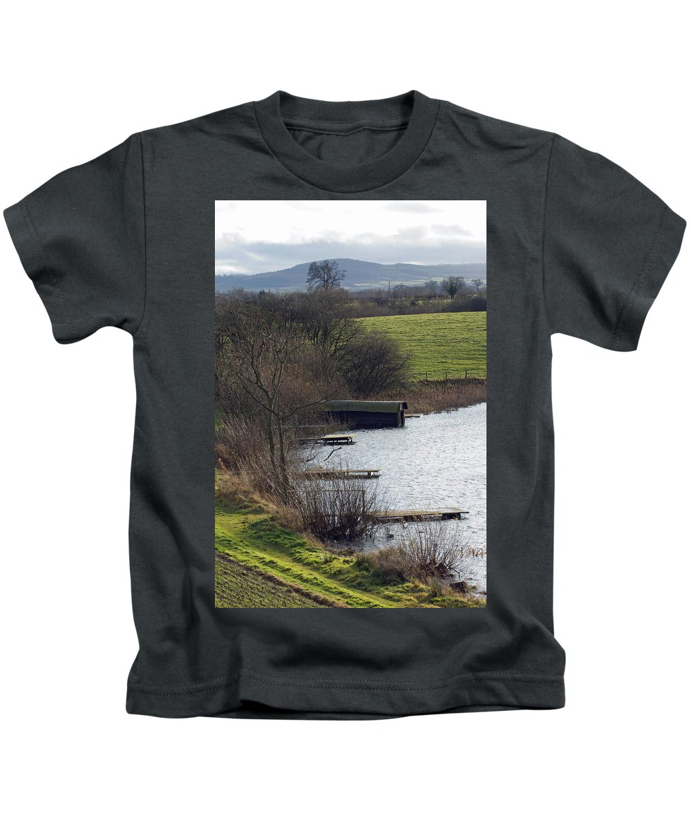 Shropshire Kids T-Shirt featuring the photograph A Shropshire Mere by Bob Kemp