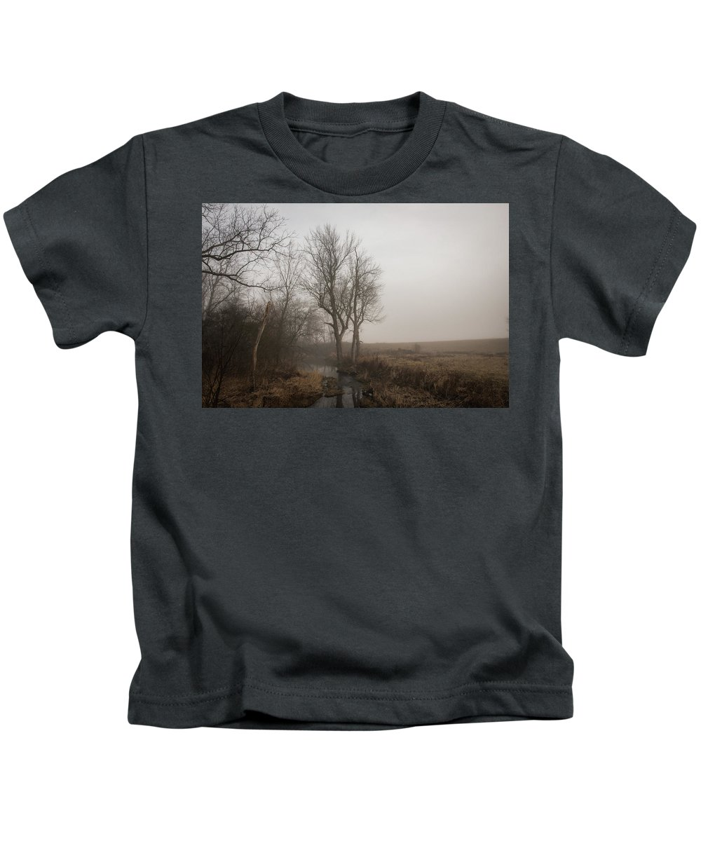 Landscape Kids T-Shirt featuring the photograph A Small Rural Creek by Greg Sommer