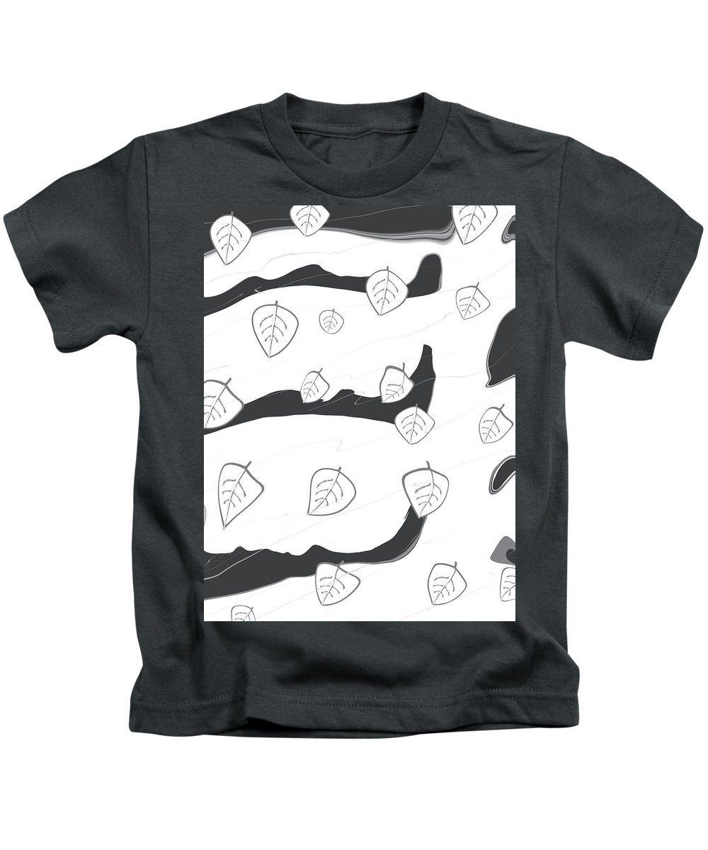 Wind Kids T-Shirt featuring the digital art A Windy And Peaceful Night - White Tree by PicdesignArt Ms