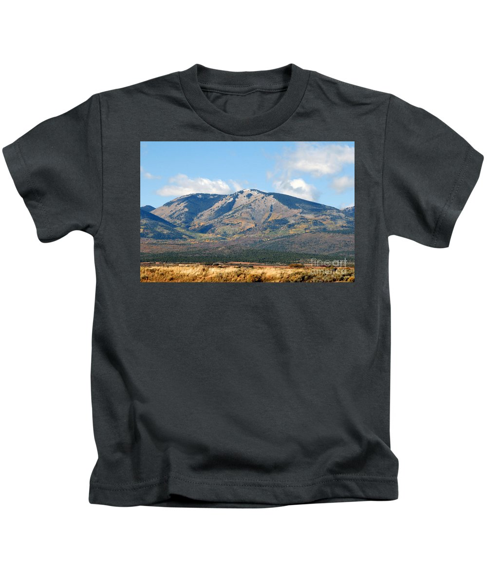 Abajo Mountains Utah Kids T-Shirt featuring the photograph Abajo Mountains Utah by David Lee Thompson