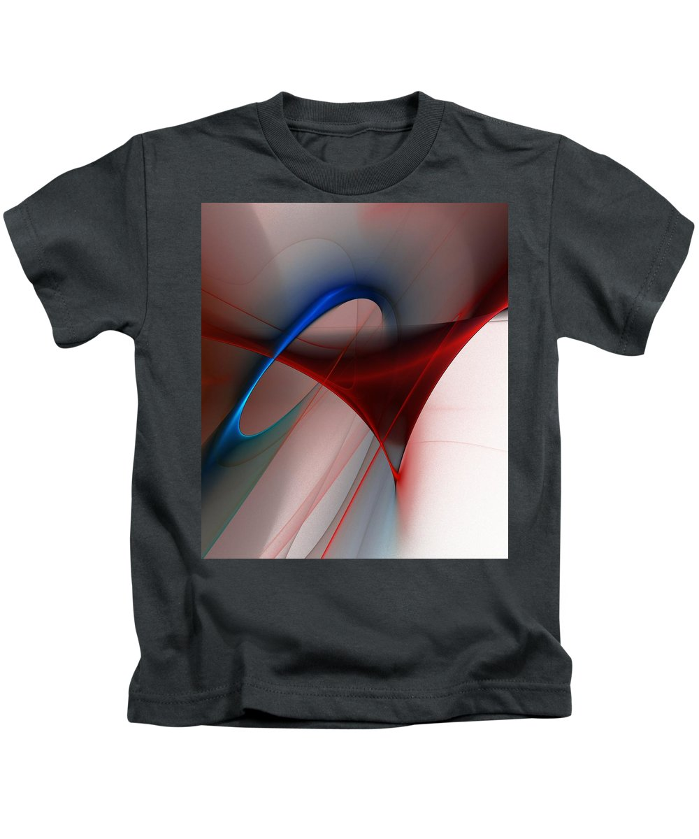 Digital Painting Kids T-Shirt featuring the digital art Abstract 052510 by David Lane