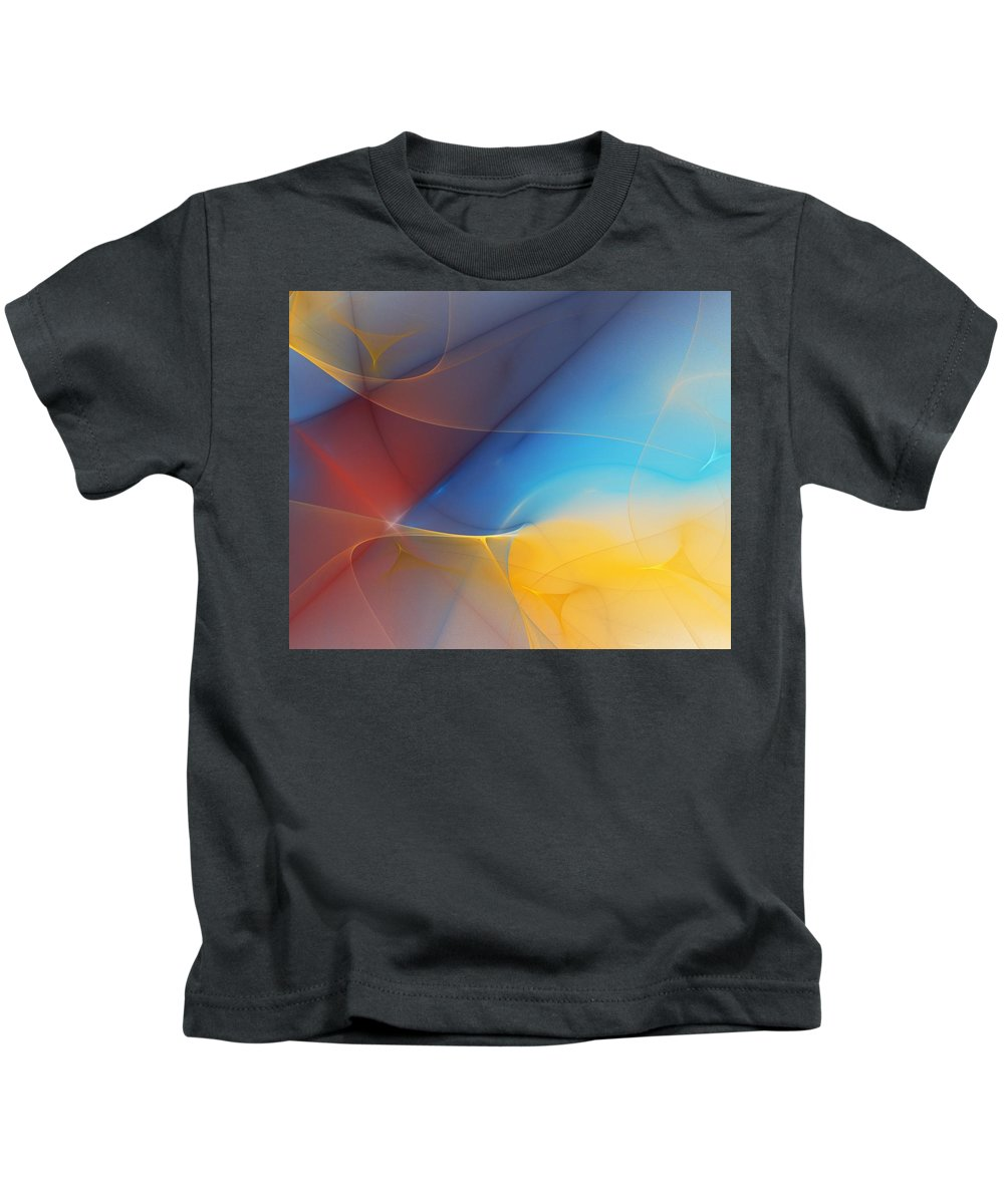 Fine Art Kids T-Shirt featuring the digital art Abstract 060810a by David Lane