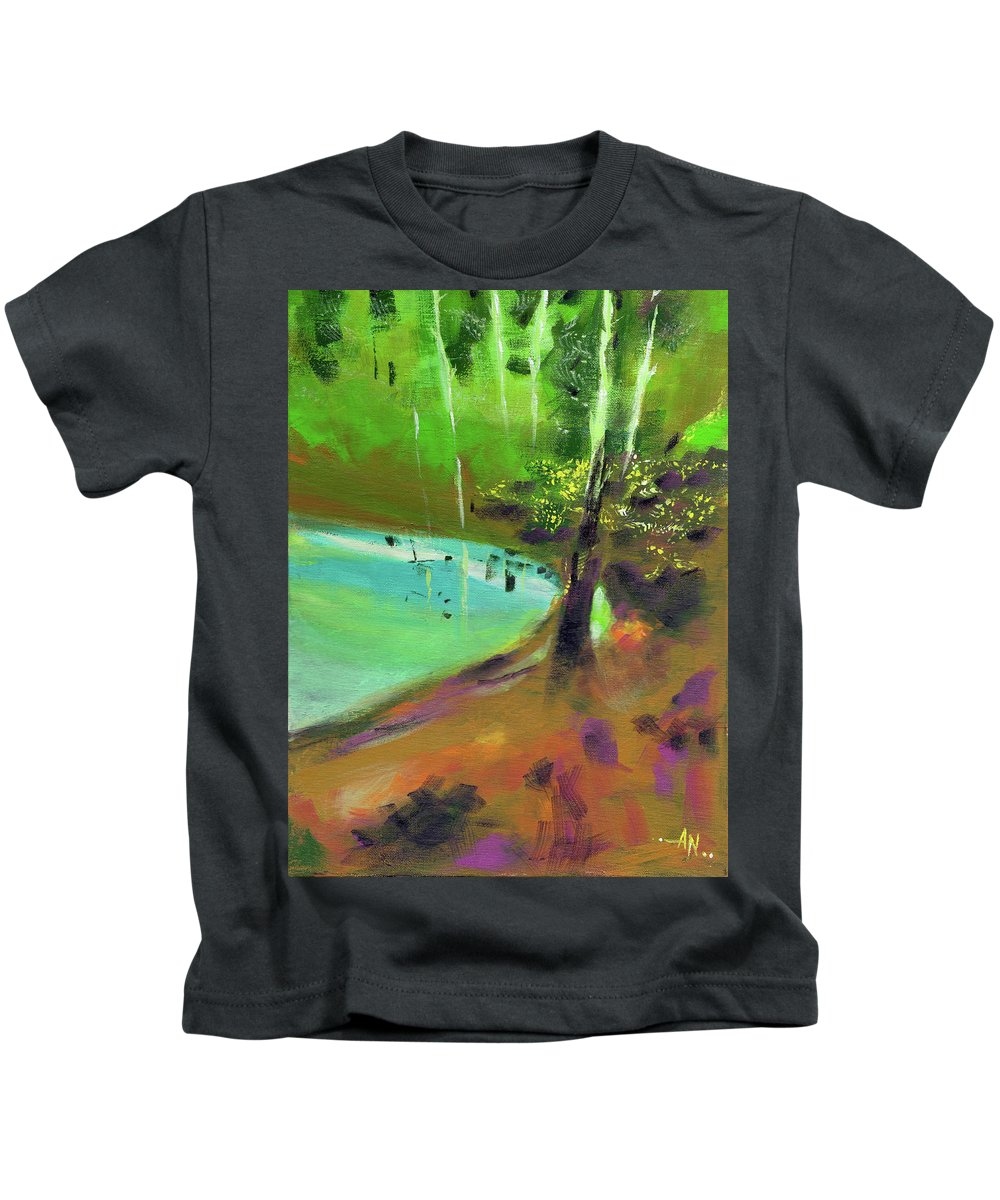 Nature Kids T-Shirt featuring the painting Abstract 13 by Anil Nene