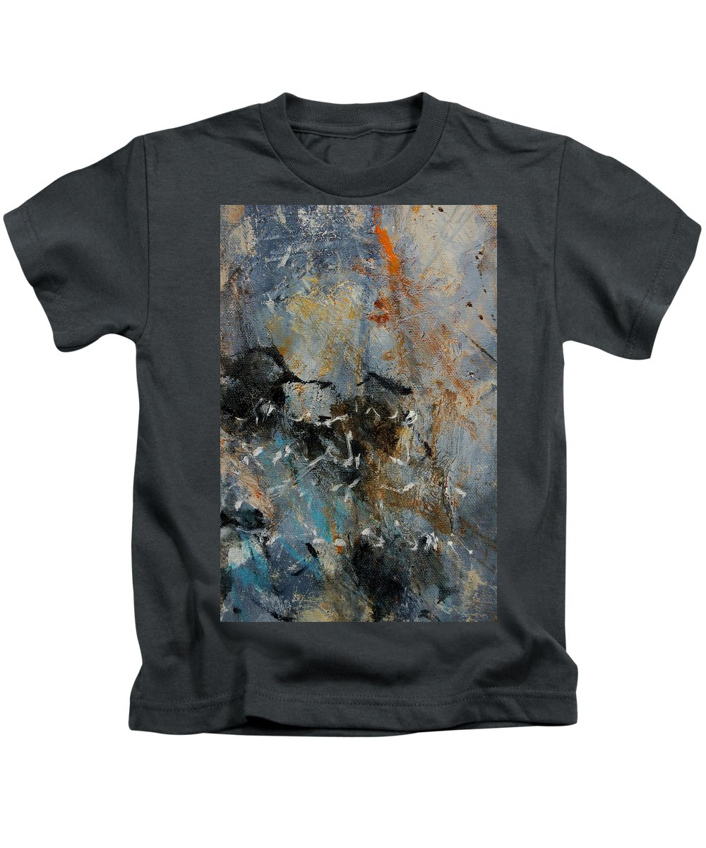 Abstract Kids T-Shirt featuring the painting Abstract 4526987 by Pol Ledent