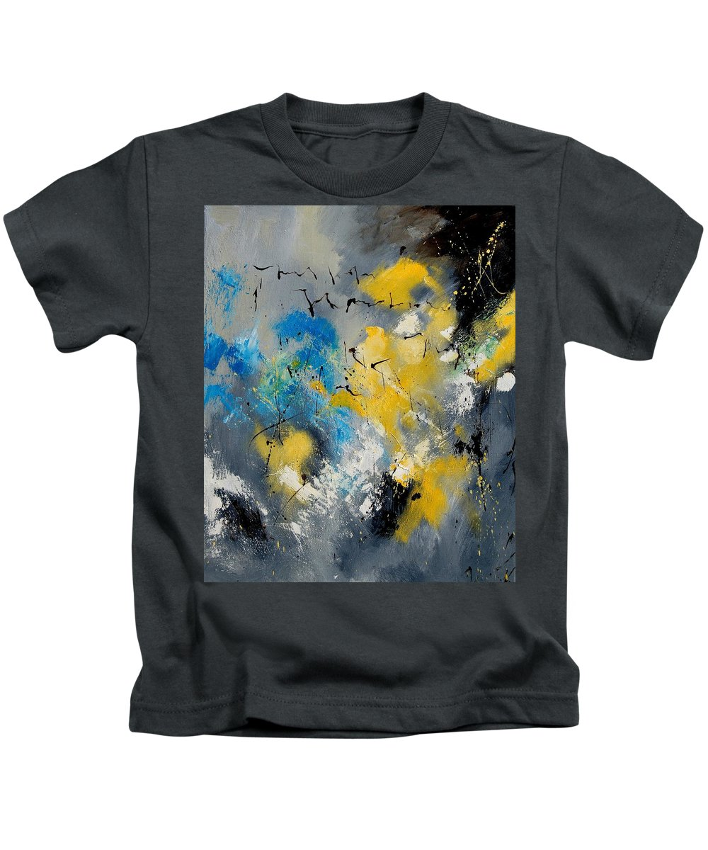 Abstract Kids T-Shirt featuring the painting Abstract 569070 by Pol Ledent
