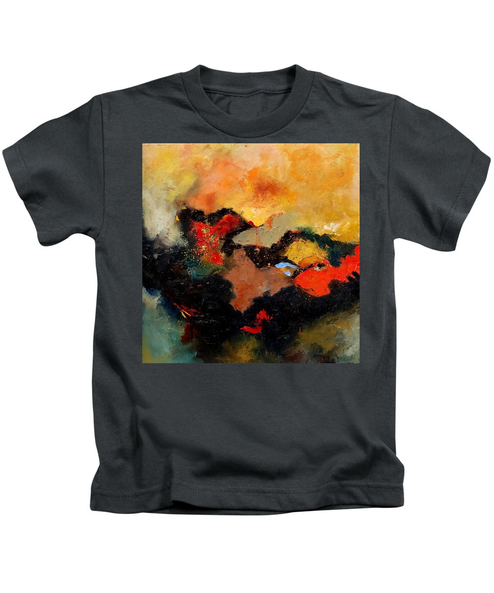 Abstract Kids T-Shirt featuring the painting Abstract 8080 by Pol Ledent
