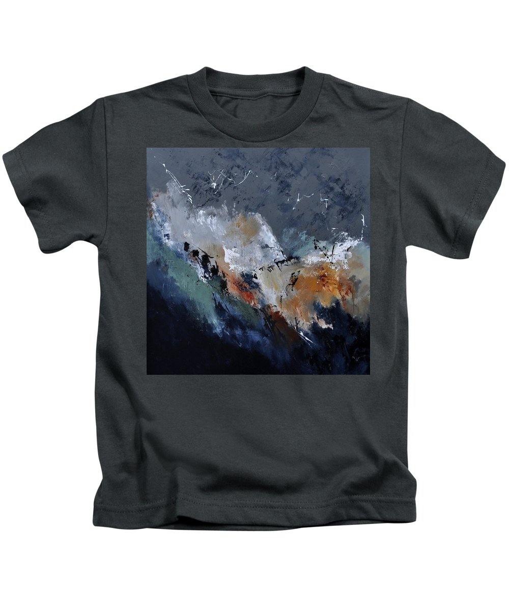 Abstract Kids T-Shirt featuring the painting Abstract 8821901 by Pol Ledent