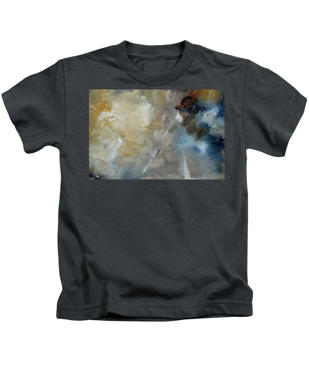 Abstract Kids T-Shirt featuring the painting Abstract 904060 by Pol Ledent