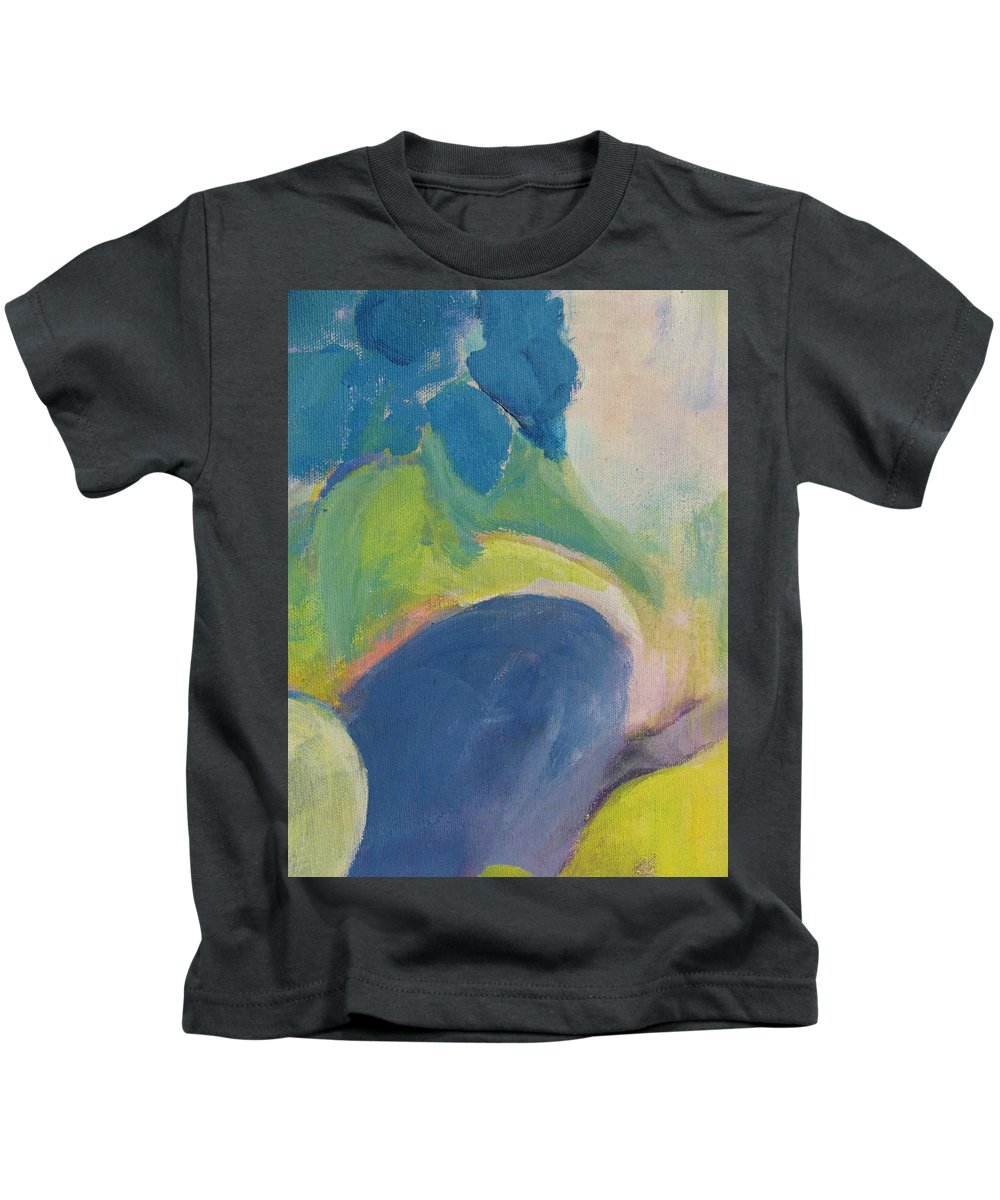 Abstact Kids T-Shirt featuring the painting Abstract Close Up 12 by Anita Burgermeister