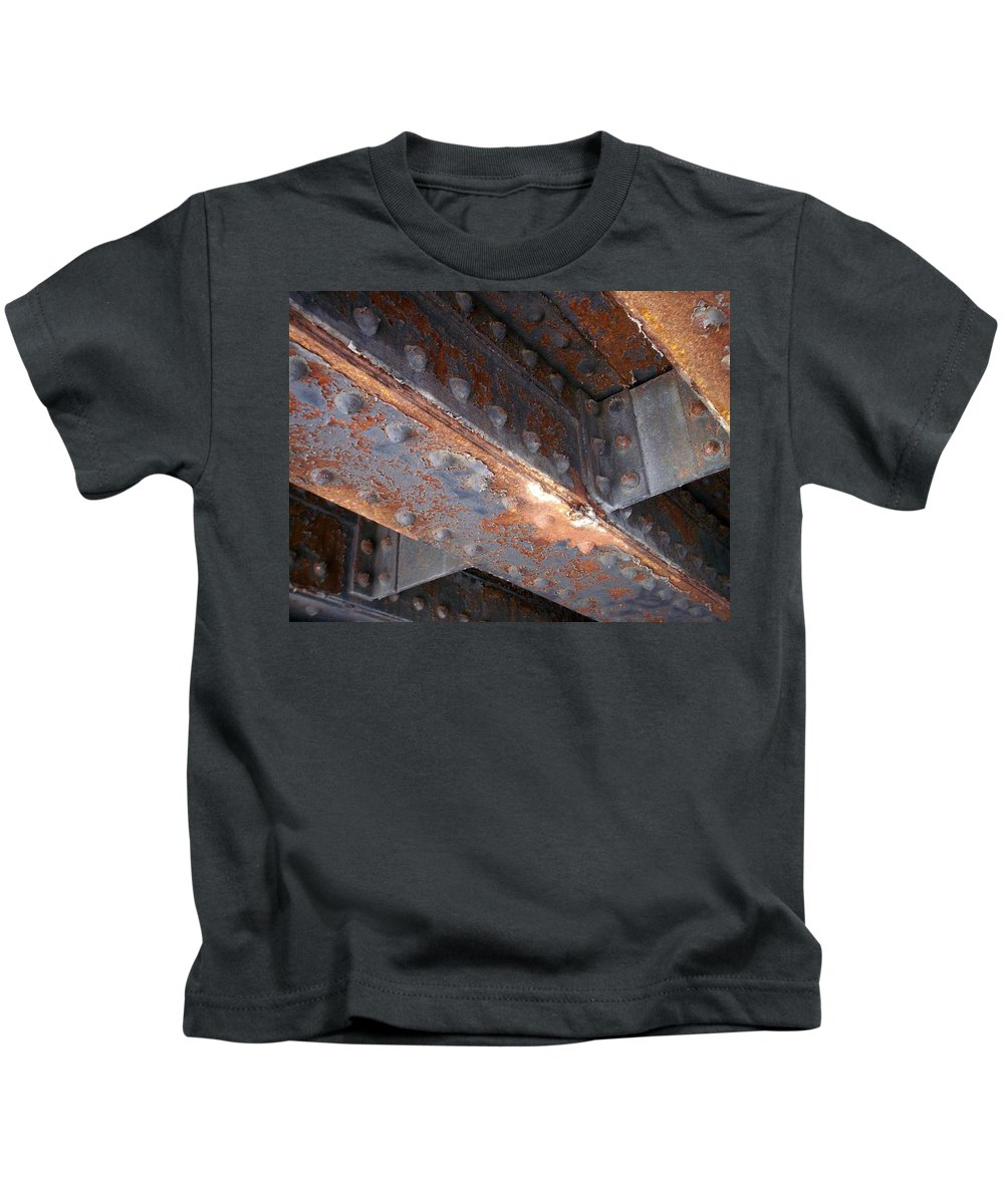 Urban Kids T-Shirt featuring the photograph Abstract Rust 3 by Anita Burgermeister