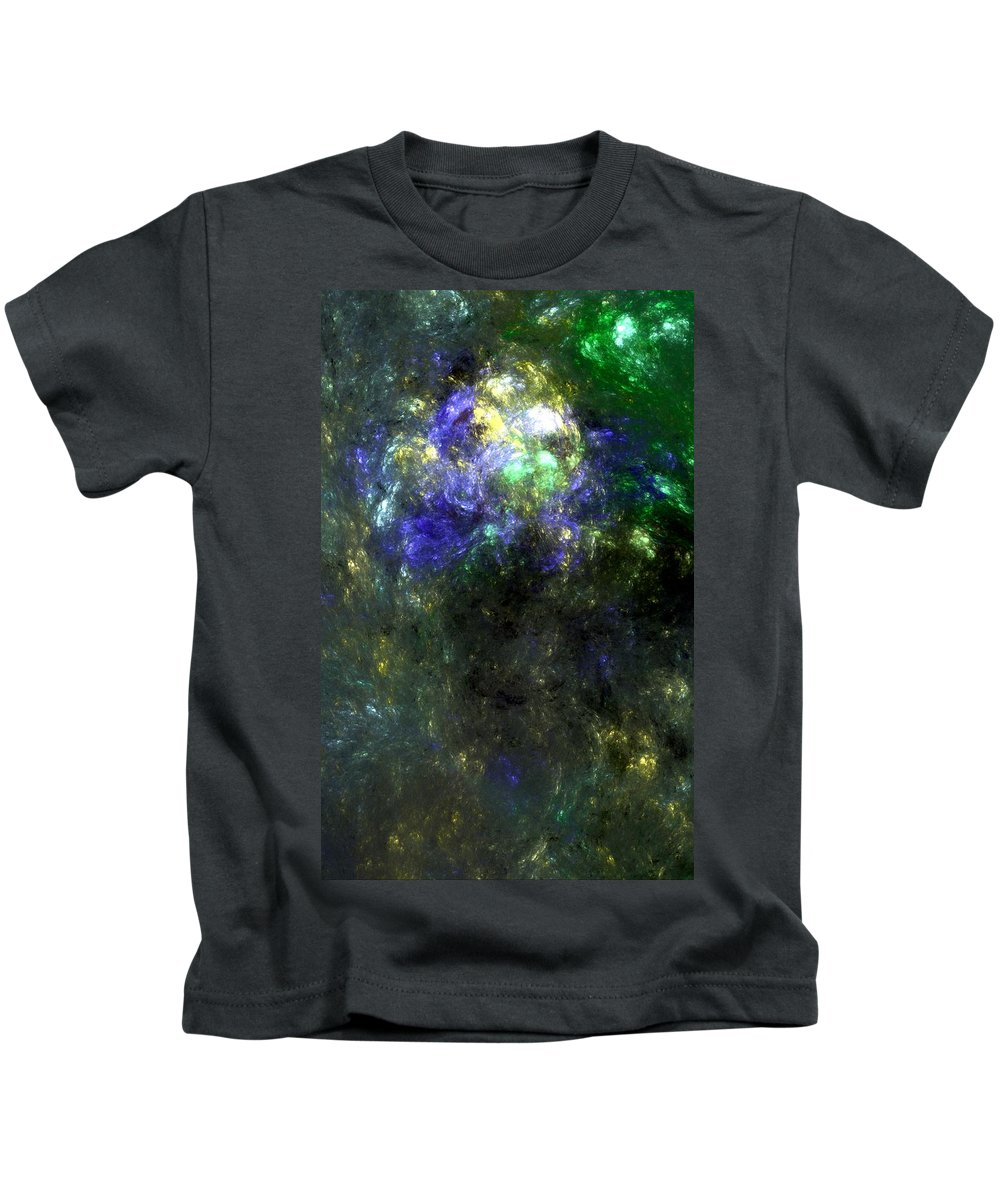 Abstract Expressionism Kids T-Shirt featuring the digital art Abstract08-14-09 by David Lane