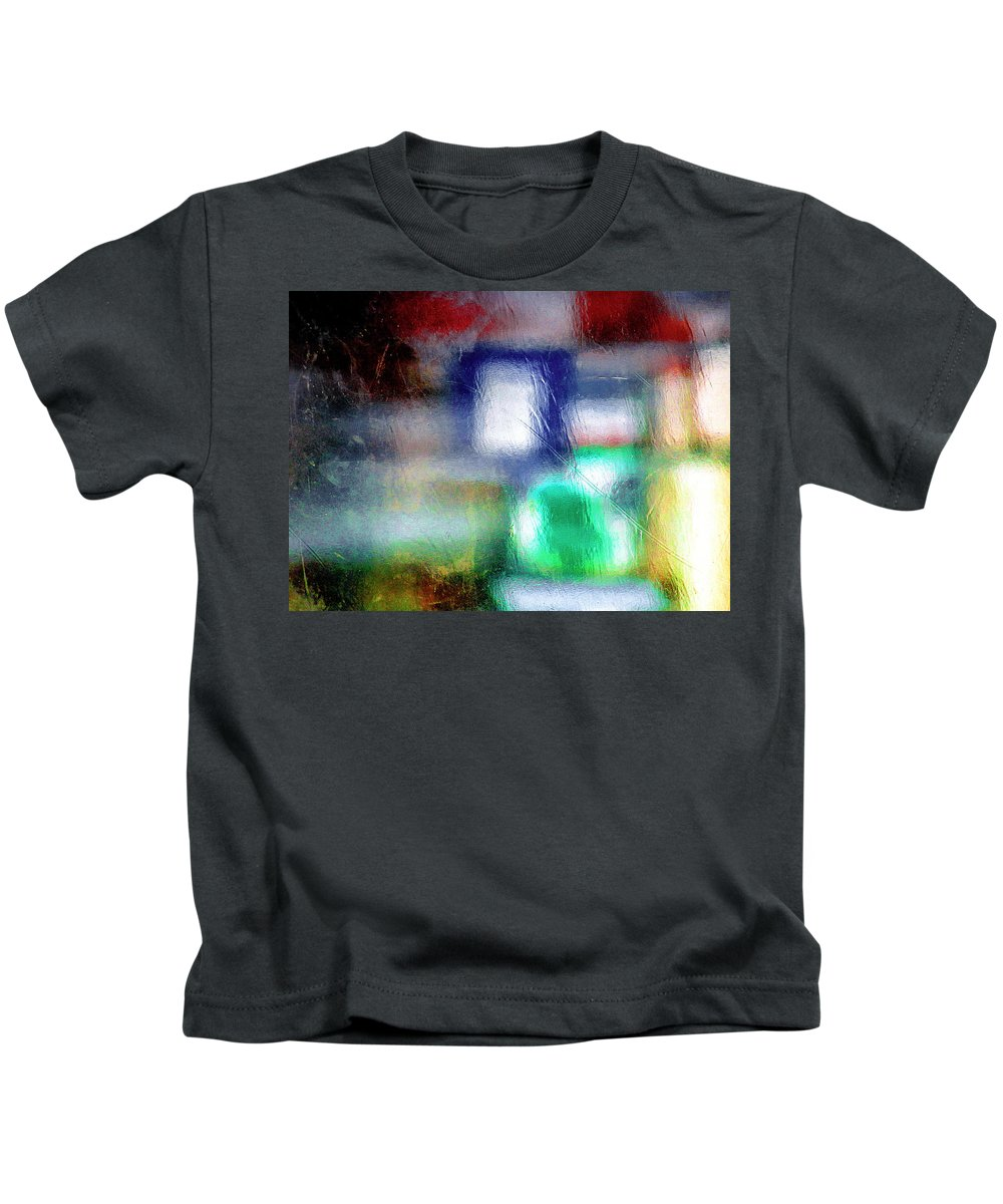 Green Kids T-Shirt featuring the photograph Abstraction by Prakash Ghai