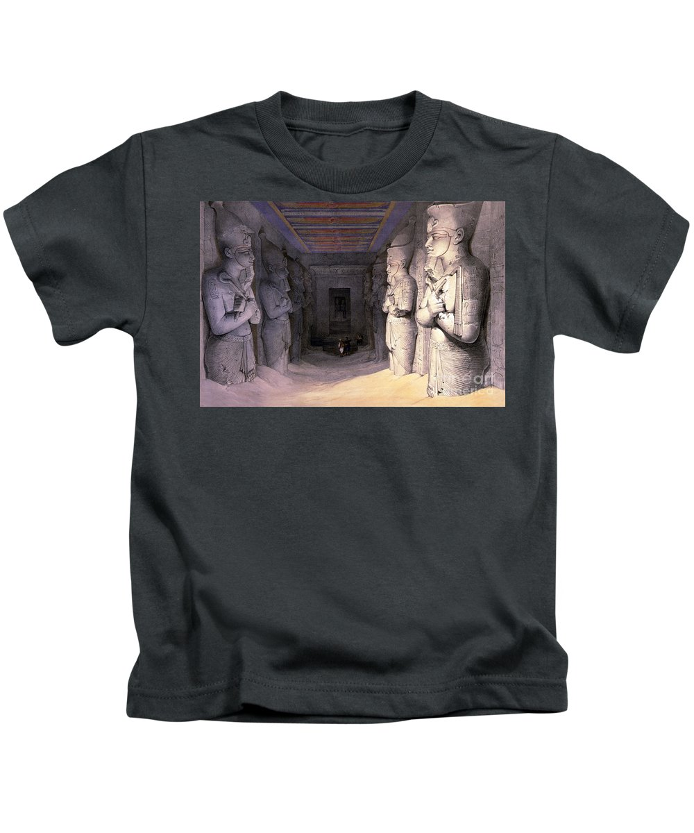 Science Kids T-Shirt featuring the photograph Abu Simbel Temple, 1838 by Science Source
