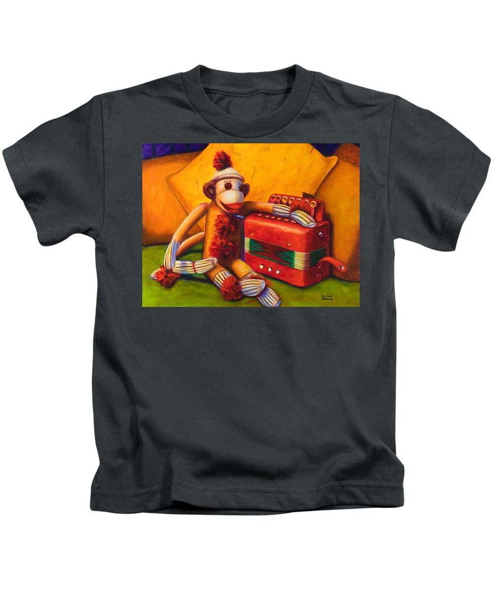 Children Kids T-Shirt featuring the painting Accordion by Shannon Grissom