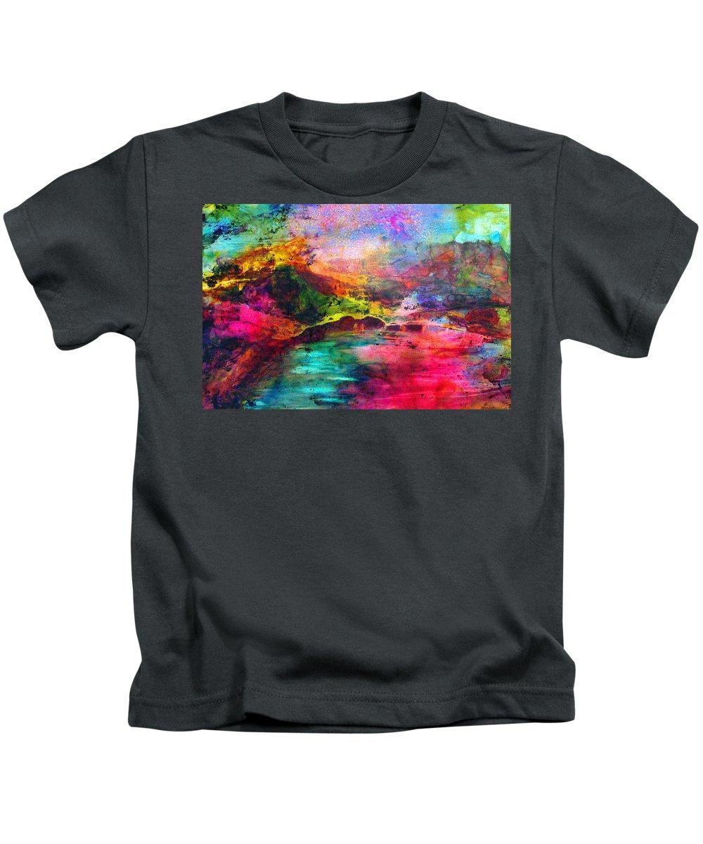 Bridge Kids T-Shirt featuring the painting Across by Janice Nabors Raiteri